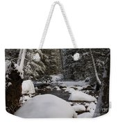 Teton River In Winter Weekender Tote Bag
