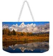 Teton Snow Cap Reflections Weekender Tote Bag