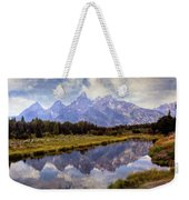 Tetons At The Landing 1 Weekender Tote Bag