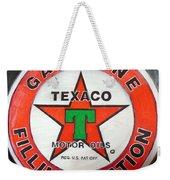 Texaco Sign Weekender Tote Bag