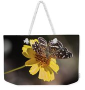 Texan Crescent Butterfly On Marigold-img_1348-2016 Weekender Tote Bag