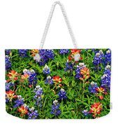 Texas Bluebonnets And Indian Paintbrush Weekender Tote Bag