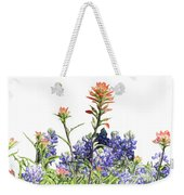 Texas Bluebonnets And Red Indian Paintbrushes Weekender Tote Bag
