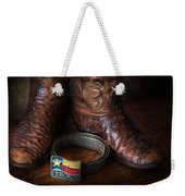 Texas Boots And Belt Buckle Weekender Tote Bag