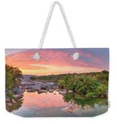 Texas Hill Country Morning Along The Pedernales 2 Weekender Tote Bag