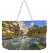 Texas Hill Country Pedernales Sunrise 1014-3 Weekender Tote Bag