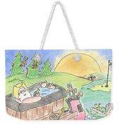 Texas Hot Tub Santa Weekender Tote Bag