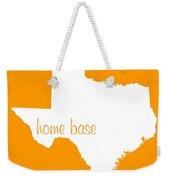 Texas Is Home Base White Weekender Tote Bag