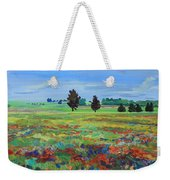 Texas Landscape Bluebonnet Indian Paintbrush Explosion Weekender Tote Bag