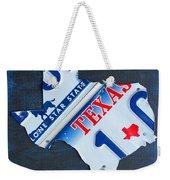 Texas License Plate Map Weekender Tote Bag