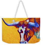 Texas Longhorn Cow Study Weekender Tote Bag