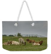 Texas Longhorns And Wildflowers Weekender Tote Bag