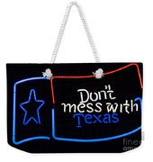 Texas Neon Sign Weekender Tote Bag