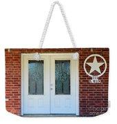 Texas Star Double Doors Weekender Tote Bag