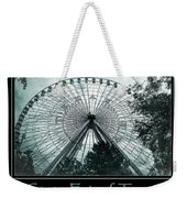Texas Star Aqua Poster Weekender Tote Bag