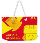 Texas Vs Notre Dame 1934 Program Weekender Tote Bag