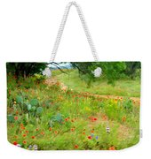 Texas Wildflowers And Cactus - Country Road Weekender Tote Bag