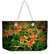 Texture Drama Field Of Tiger Lilies Weekender Tote Bag