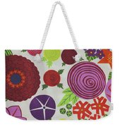 Texture Of Colored Fabric Weekender Tote Bag