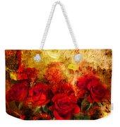 Texture Roses Weekender Tote Bag
