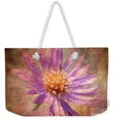Textured Aster Weekender Tote Bag by Lois Bryan