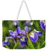 Textured Bearded Irises Weekender Tote Bag