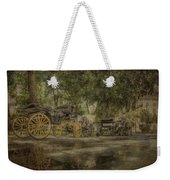 Textured Carriages Weekender Tote Bag