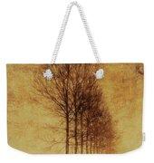 Textured Eerie Trees Weekender Tote Bag