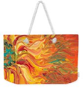 Textured Fire Sunflower Weekender Tote Bag