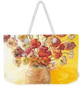 Textured Flowers In A Vase Weekender Tote Bag