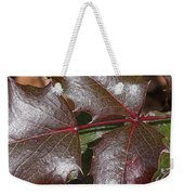 Textured Leaves Weekender Tote Bag