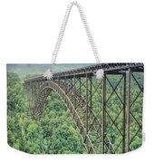 Textured New River Gorge Bridge Weekender Tote Bag