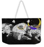 Textured Night For Borzoi Dogs Weekender Tote Bag