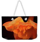 Textured Orange Weekender Tote Bag