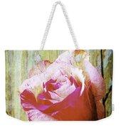 Textured Pink Red Rose Weekender Tote Bag