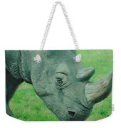 Textured Rhino Weekender Tote Bag