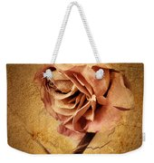 Textured Rose Weekender Tote Bag