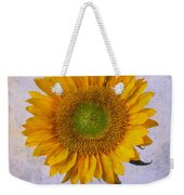 Textured Sunflower Weekender Tote Bag