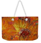 Textured Sunflowers Weekender Tote Bag