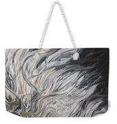 Textured White Sunflower Weekender Tote Bag