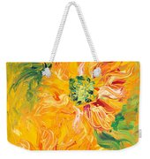 Textured Yellow Sunflowers Weekender Tote Bag