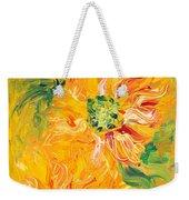 Textured Yellow Sunflowers Weekender Tote Bag