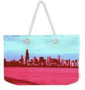 Textures Of Chicago Weekender Tote Bag
