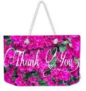 Thank You 1 Weekender Tote Bag