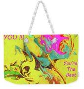 Thank You Card Abstract Lilac Breasted Roller Weekender Tote Bag