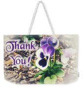 Thank You Pansy Weekender Tote Bag