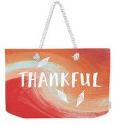 Thankful- Art By Linda Woods Weekender Tote Bag by Linda Woods