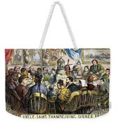 Thanksgiving Cartoon, 1869 Weekender Tote Bag