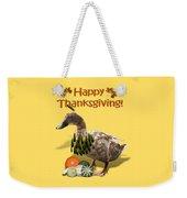 Thanksgiving Indian Duck Weekender Tote Bag