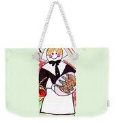 Thanksgiving Lady Pilgrim Weekender Tote Bag